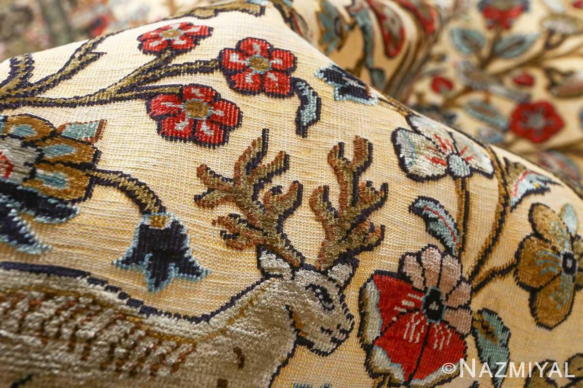 fine tree of life design vintage silk souf qum persian rug 51048 souf Nazmiyal