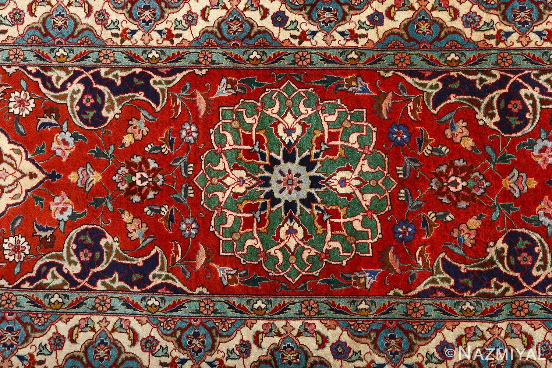 fine zohreh design vintage tabriz persian rug 51047 border Nazmiyal