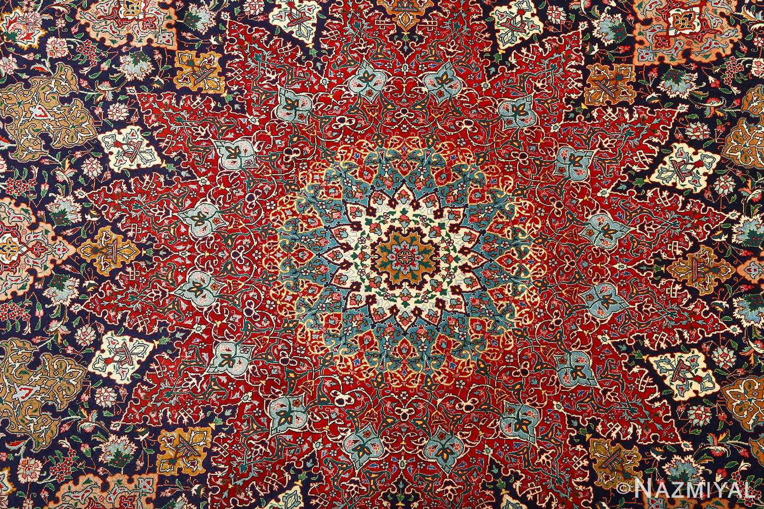 fine zohreh design vintage tabriz persian rug 51047 center Nazmiyal