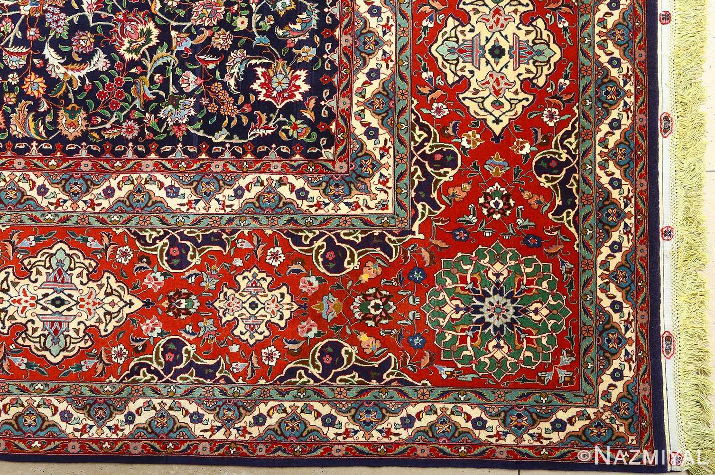 fine zohreh design vintage tabriz persian rug 51047 corner Nazmiyal