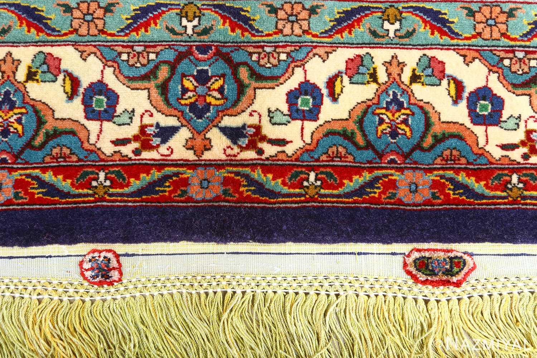 fine zohreh design vintage tabriz persian rug 51047 fringe Nazmiyal