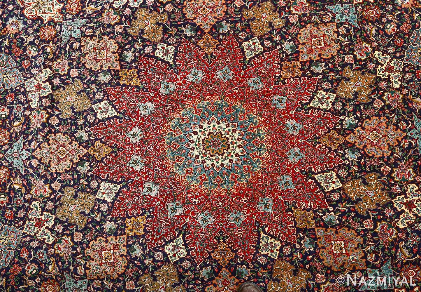 fine zohreh design vintage tabriz persian rug 51047 medallion Nazmiyal