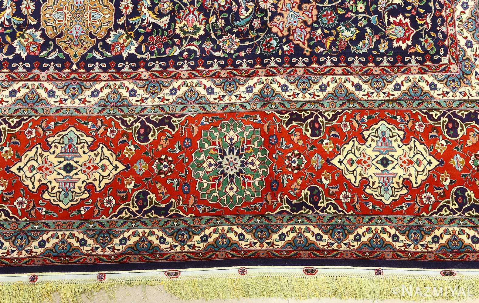 fine zohreh design vintage tabriz persian rug 51047 pattern Nazmiyal