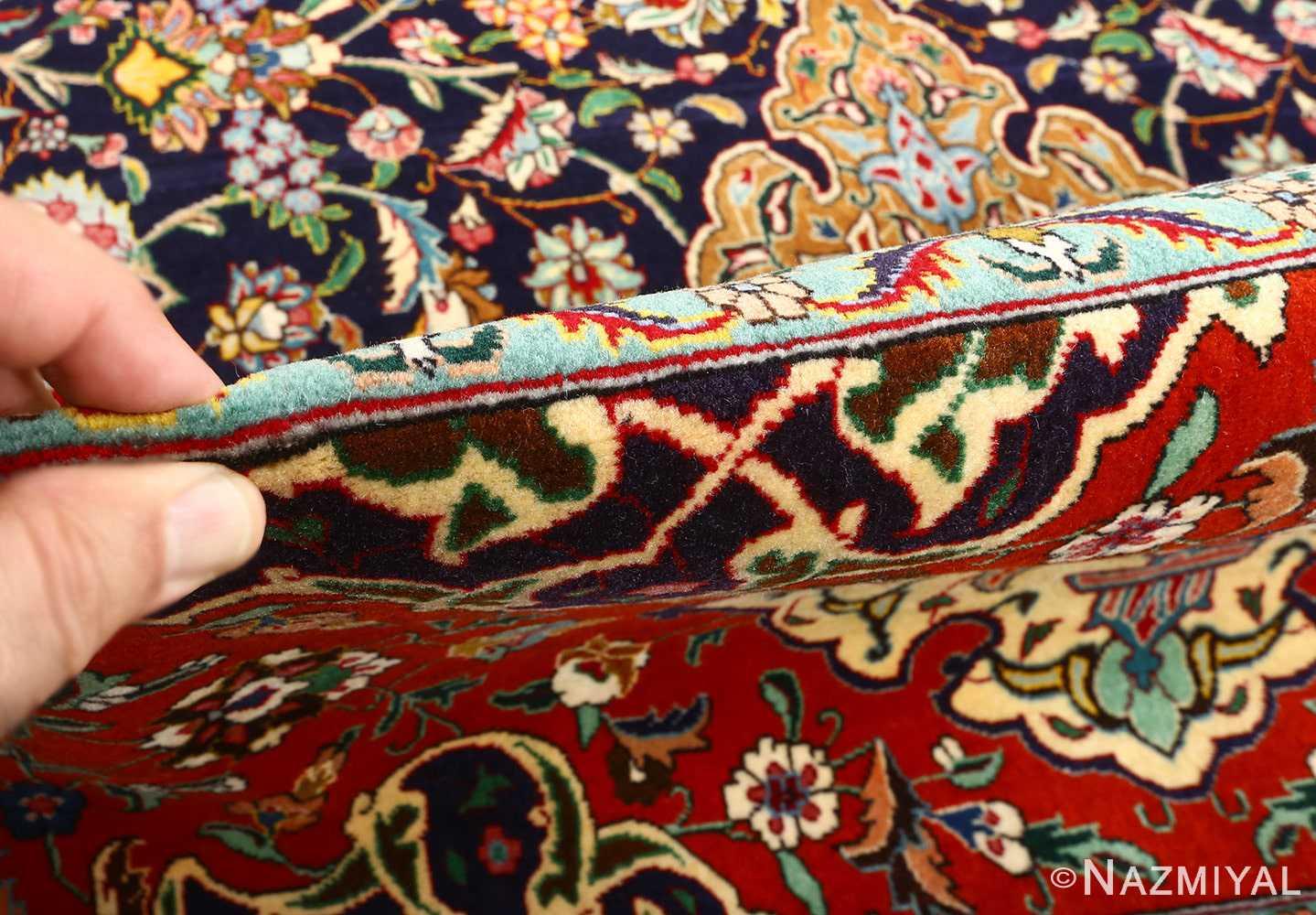 fine zohreh design vintage tabriz persian rug 51047 pile Nazmiyal