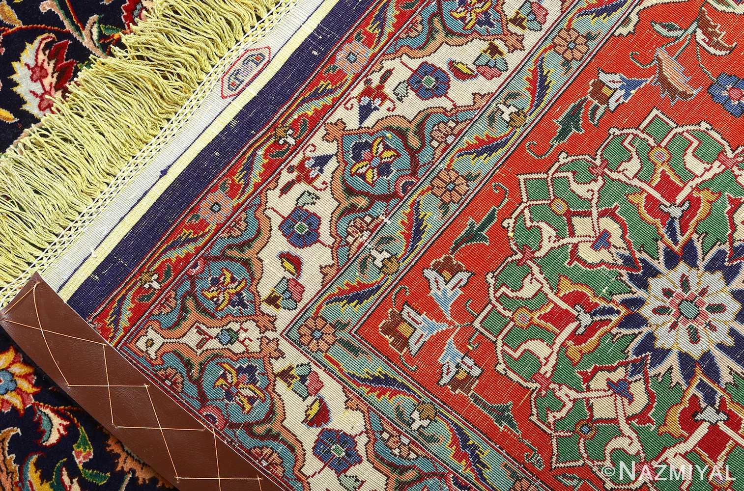 fine zohreh design vintage tabriz persian rug 51047 weave Nazmiyal