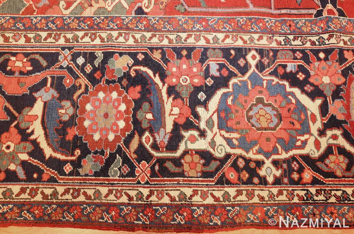 large antique serapi persian rug 49007 border Nazmiyal