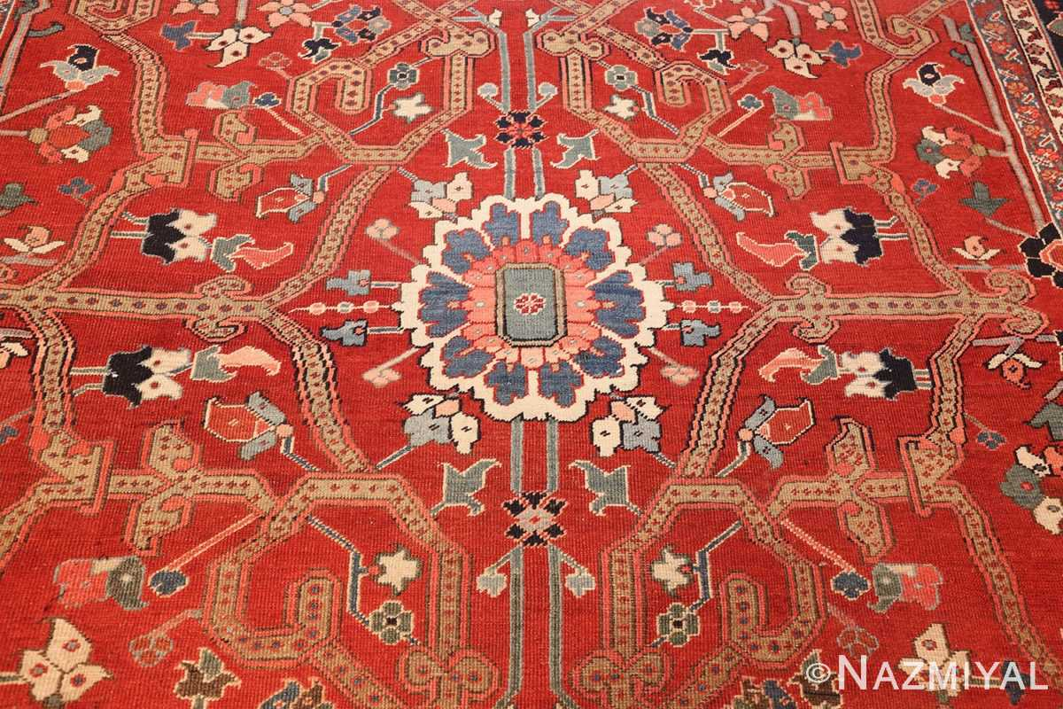 large antique serapi persian rug 49007 middle Nazmiyal