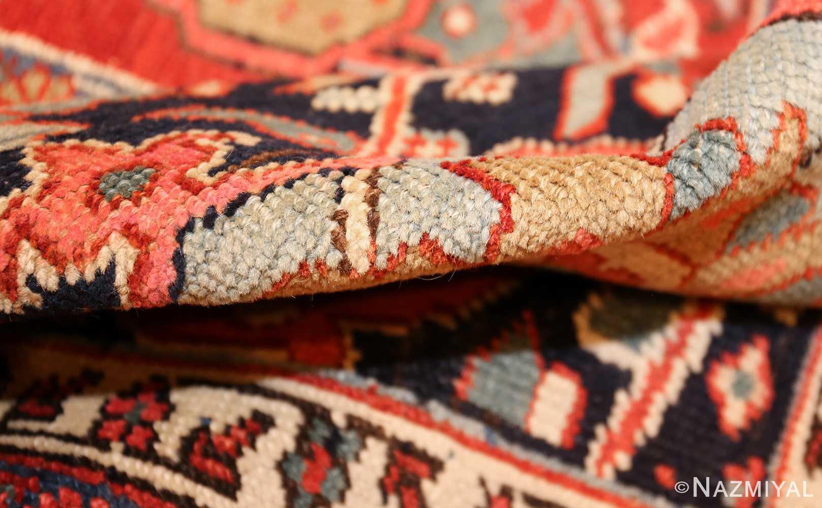large antique serapi persian rug 49007 pile Nazmiyal