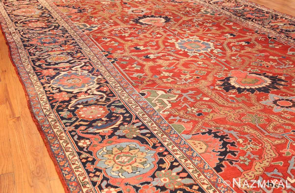 large antique serapi persian rug 49007 side Nazmiyal