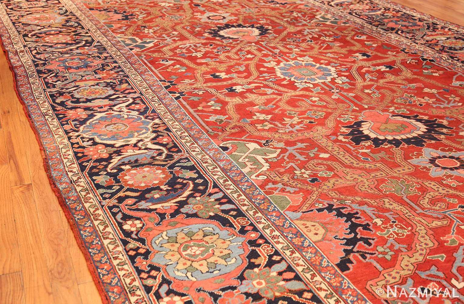 large antique serapi persian rug 49007 side Nazmiyal