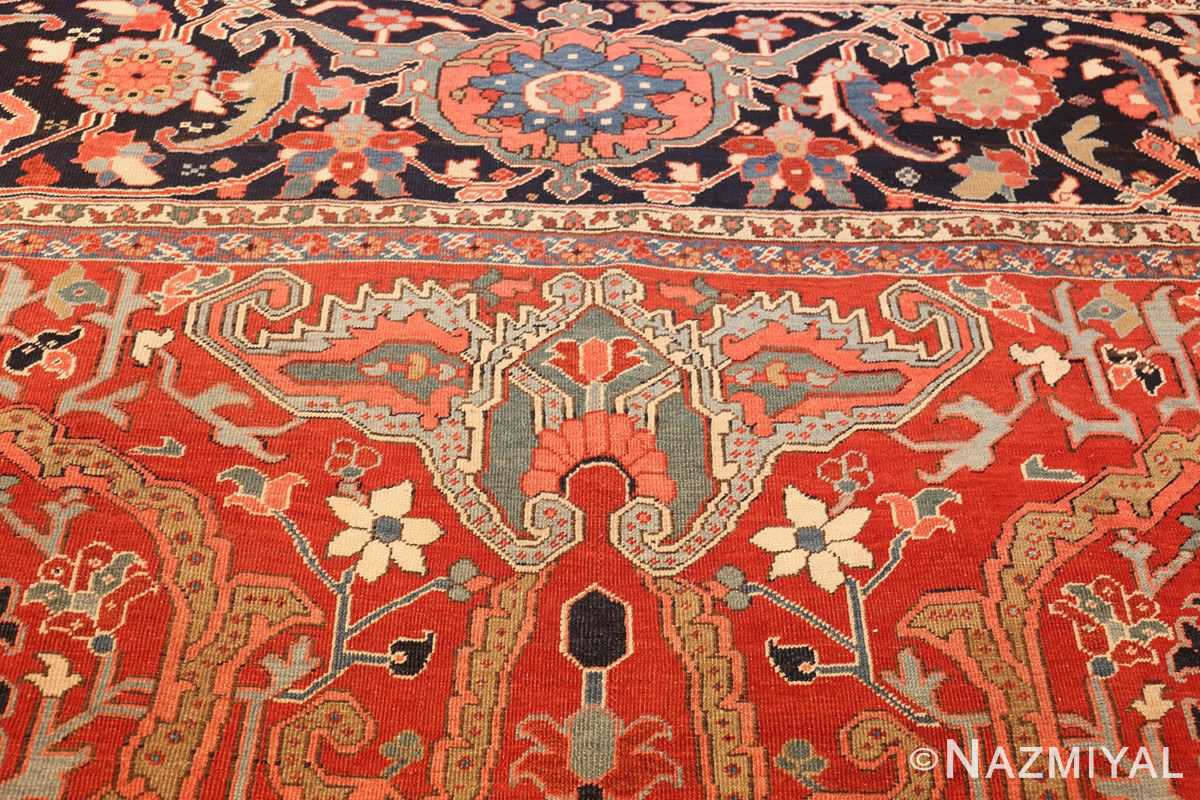 large antique serapi persian rug 49007 top Nazmiyal