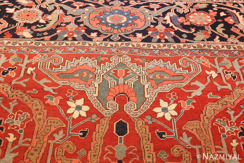large antique serapi persian rug 49007 top Nazmiyal