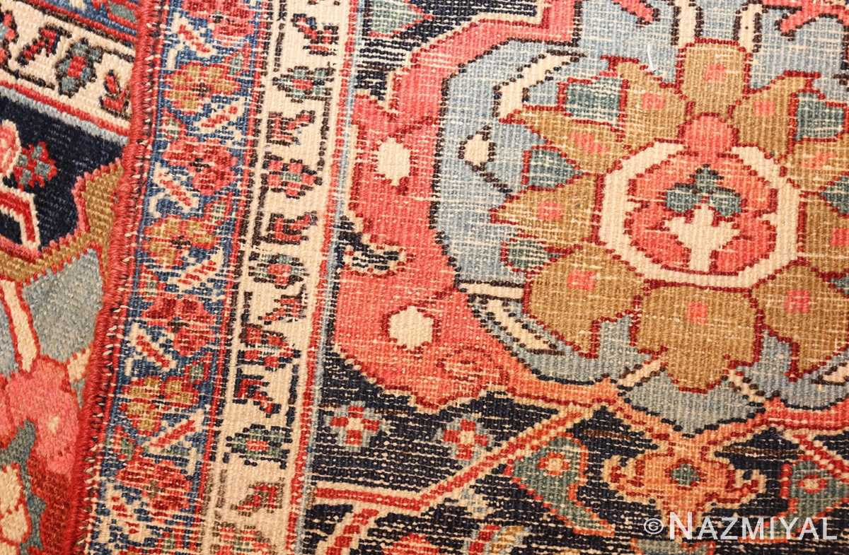 large antique serapi persian rug 49007 weave Nazmiyal