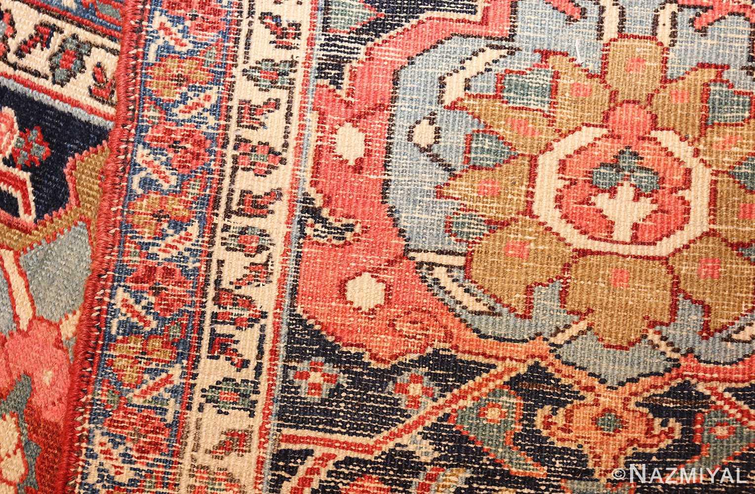 large antique serapi persian rug 49007 weave Nazmiyal