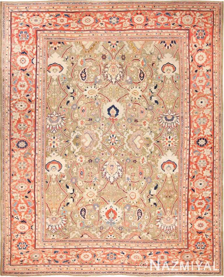 large antique zigler sultanabad persian rug 49002 Nazmiyal