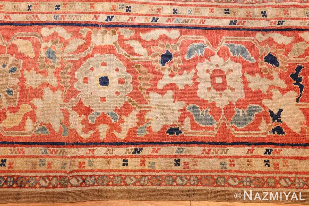 large antique zigler sultanabad persian rug 49002 border Nazmiyal