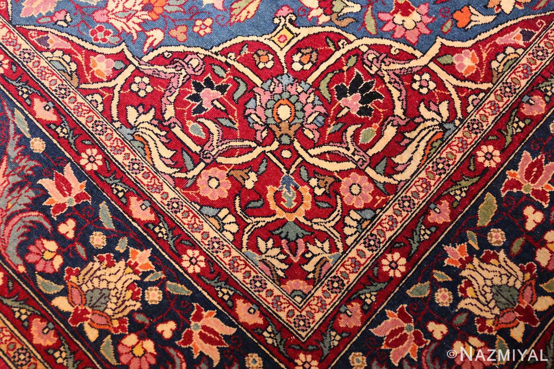 vinatge blue background tehran persian rug 49249 design Nazmiyal