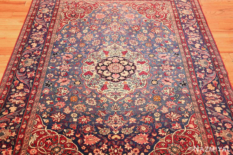 vinatge blue background tehran persian rug 49249 full Nazmiyal