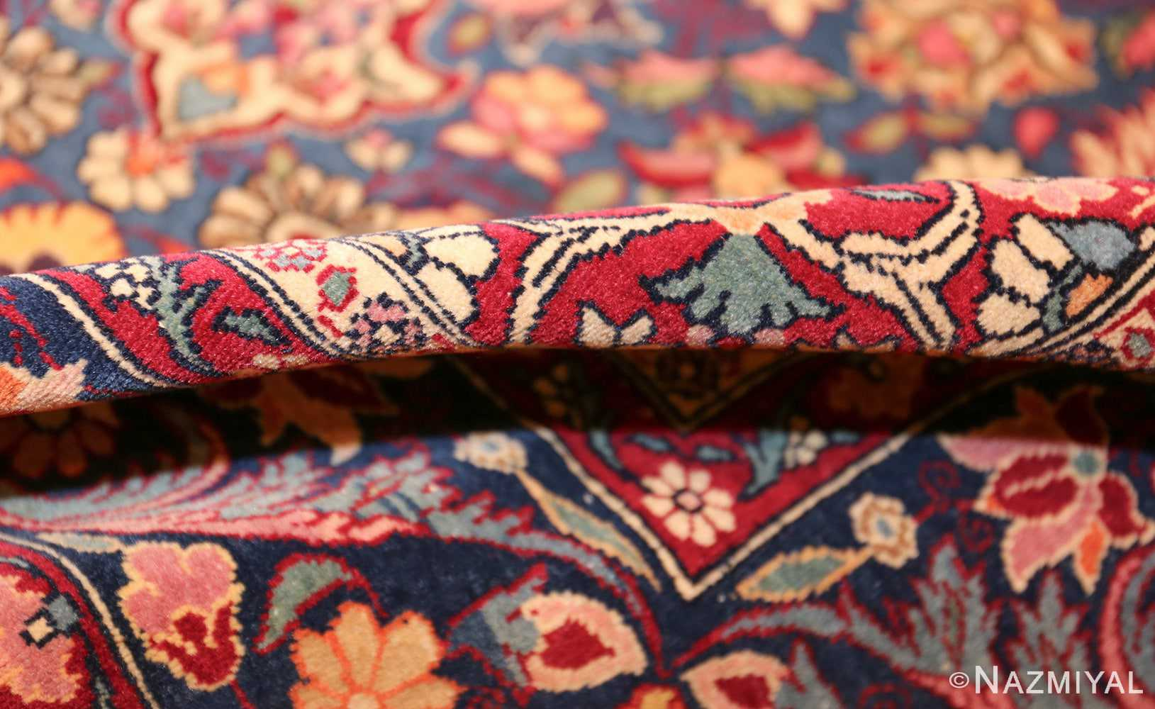vinatge blue background tehran persian rug 49249 pile Nazmiyal
