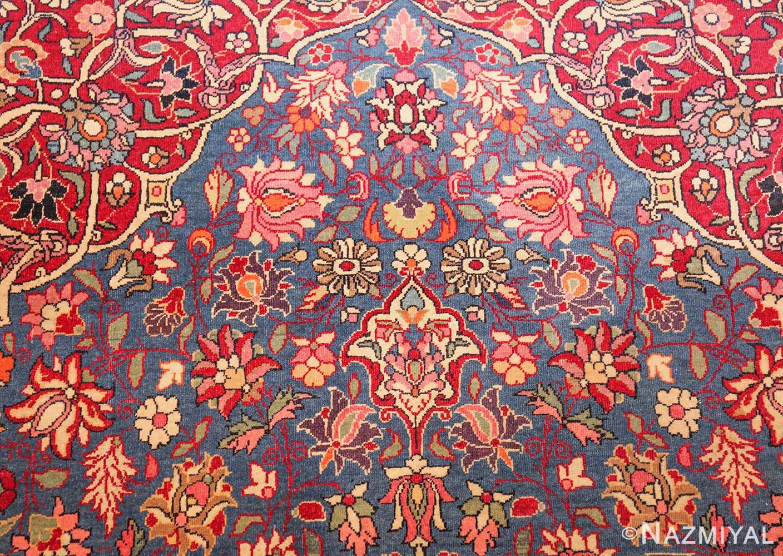 vinatge blue background tehran persian rug 49249 top Nazmiyal
