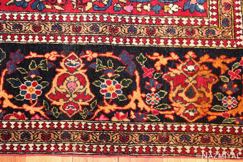vintage dark background isfahan persian rug 49250 border Nazmiyal