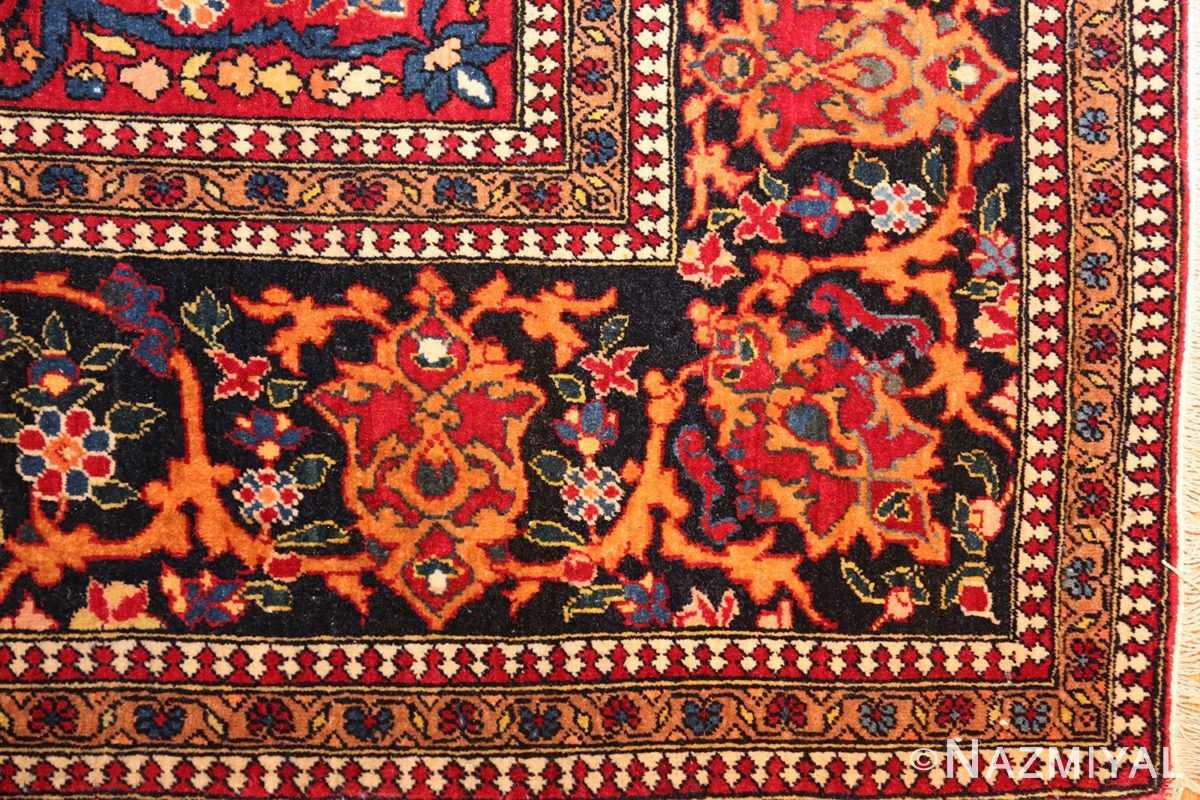 vintage dark background isfahan persian rug 49250 corner Nazmiyal