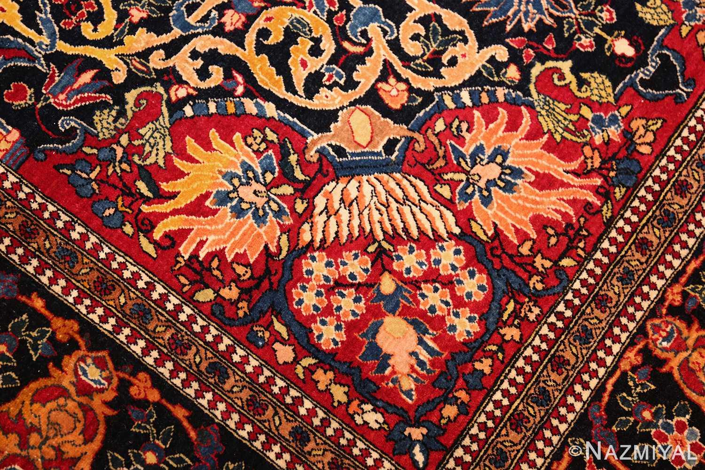 vintage dark background isfahan persian rug 49250 design Nazmiyal