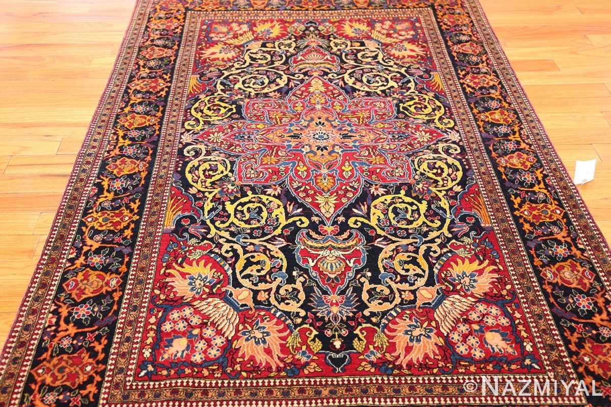 vintage dark background isfahan persian rug 49250 full Nazmiyal