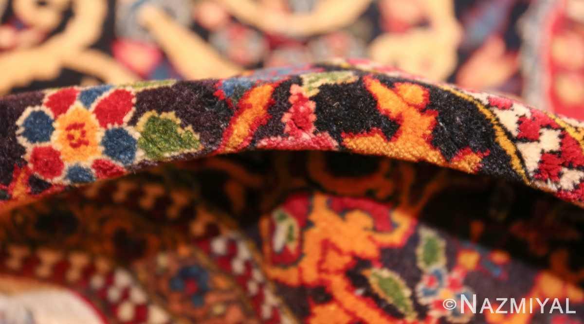 vintage dark background isfahan persian rug 49250 pile Nazmiyal