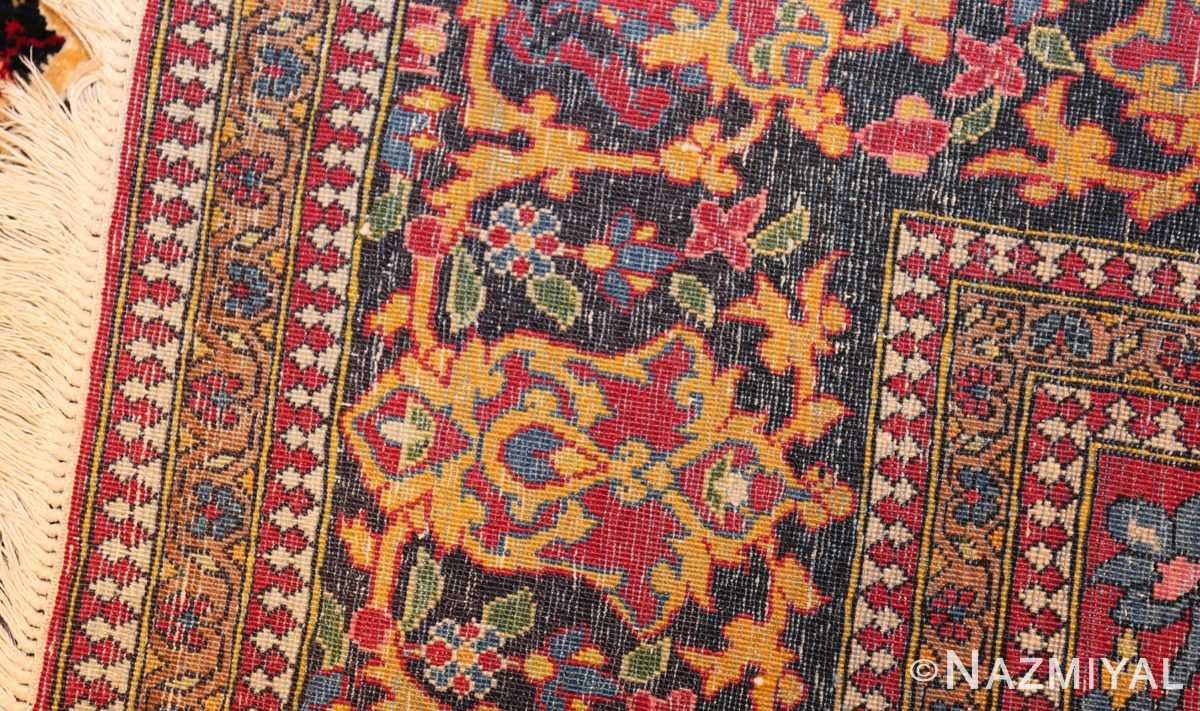 vintage dark background isfahan persian rug 49250 weave Nazmiyal
