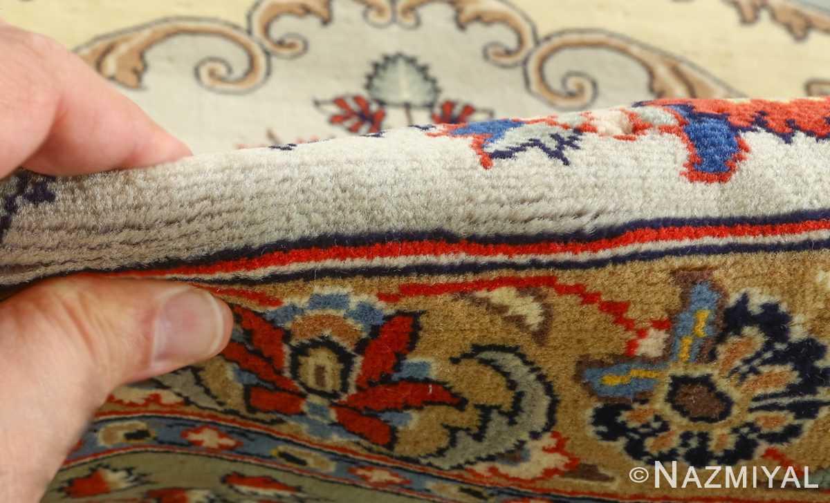 vintage light blue qum persian rug 51062 pile Nazmiyal