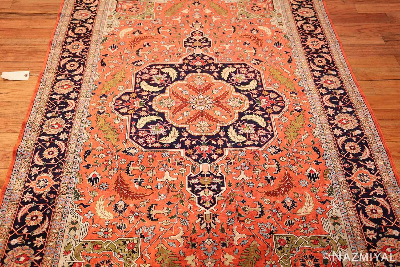 vintage silk heriz persian rug 49248 full Nazmiyal