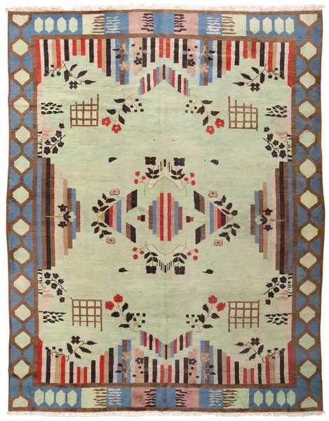 Vintage Art Deco Indian Rug, Nazmiyal