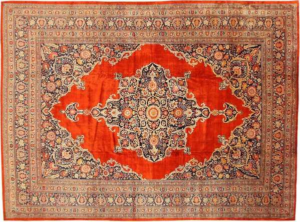 Antique Persian Silk Tabriz Haji Jalili Rug, Nazmiyal