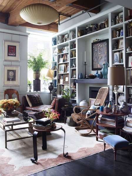 Alexandra Loew Interior, Featuring Nazmiyal Antique Rugs