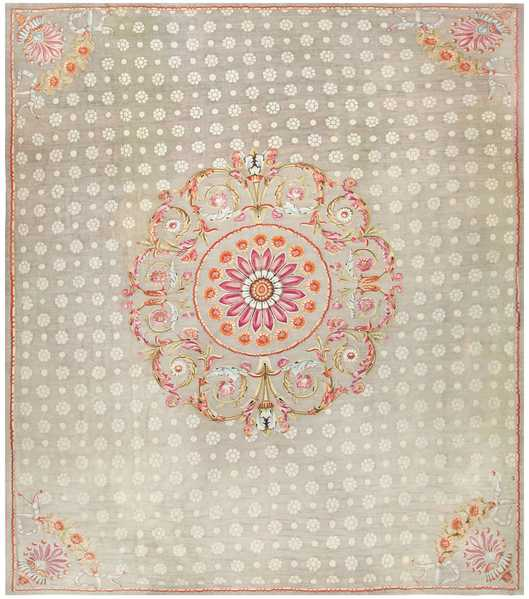 Antique Charles the X French Aubusson Rug, Nazmiyal