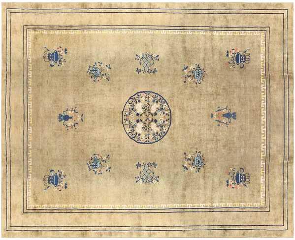 Antique Chinese Carpet, Nazmiyal