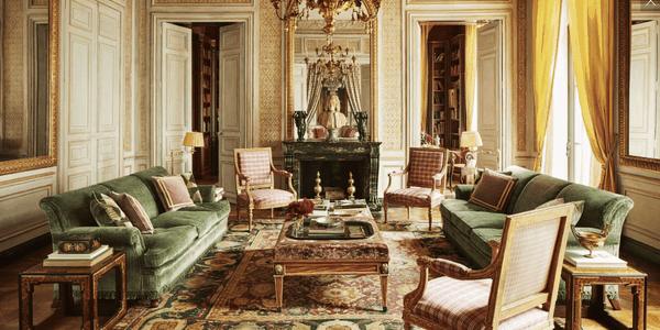 18th Century Decadence including an Antique Indian Agra Rug (Most Likely)