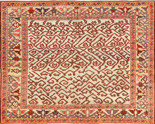 Antique Persian Dragon Bakshaish Carpet, Nazmiyal