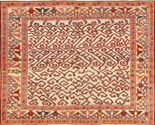 Antique Persian Dragon Bakshaish Carpet, Nazmiyal