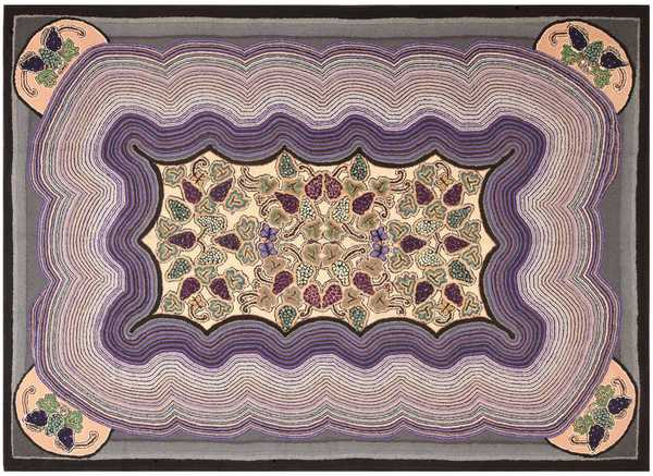 Antique Room Sized American Hooked Rug, Nazmiyal