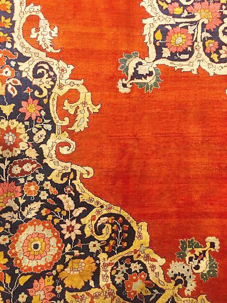 Antique Tabriz Persian Silk Luxury Rugs by Nazmiyal