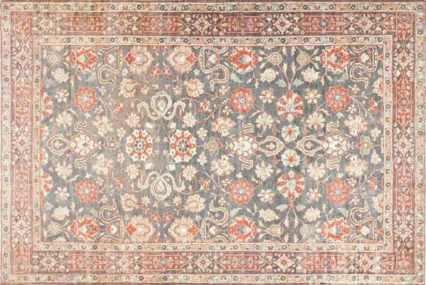 Beautiful Grey Antique Persian Tabriz Rug Nazmiyal