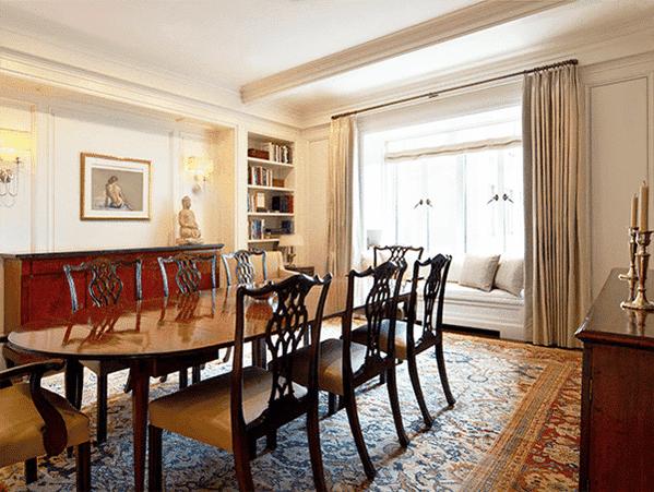 Antique Rug in a dining room, Interior Designer Spotlight, Heather Moore, Nazmiyal