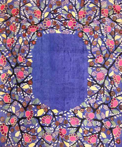 Edouard Benedictus French Art Deco Rug, Nazmiyal
