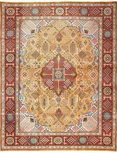 fine joshagan design vintage tabriz persian rug 51069 Nazmiyal