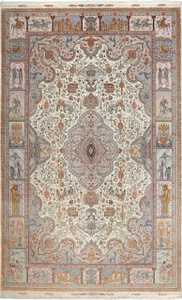 fine pictorial vintage tabriz persian rug 51070 Nazmiyal