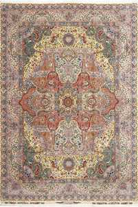 fine pictorial vintage tabriz persian rug 51074 Nazmiyal