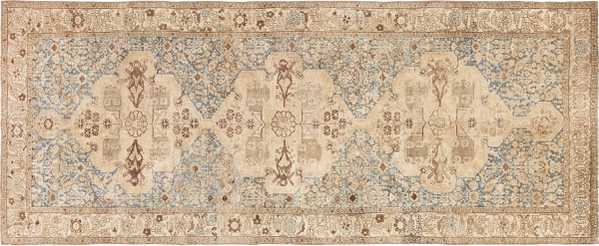 Gallery Size Shabby Chic Antique Persian Malayer Rug