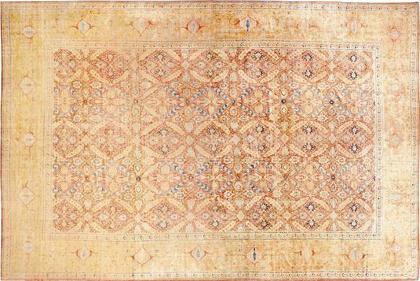Large Oversized Antique Persian Tabriz Luxurious Silk Rug by Nazmiyal
